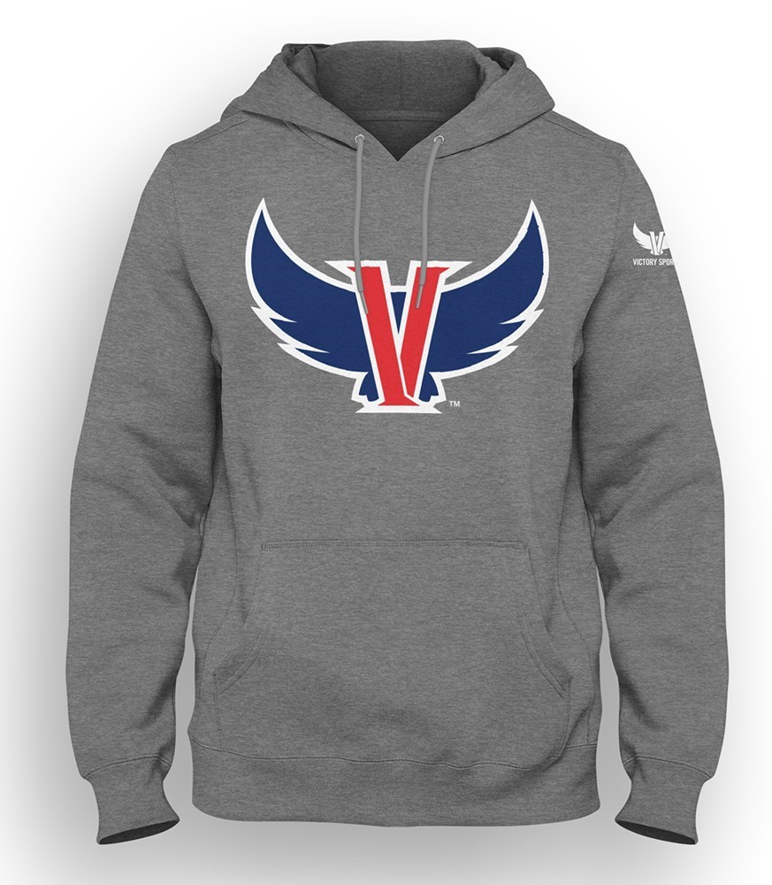 VICTORY SPORTS: GREY Pullover Hooded Sweatshirt